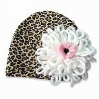 Best Fashionable Baby Hat with Flower, Made of Polyester and Cotton, Available in Various Colors wholesale