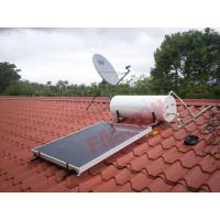 China 300L Thermal Flat Plate Collectors Solar Water Heating System 304 Inner Tank Blue Film on sale