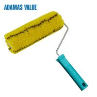 China Easy Paint Paint Rollers For Smooth Finish Yellow With Black Stripe on sale