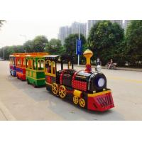 Best Colorful Painting Shopping Mall Train , FRP Material Trackless Train Ride wholesale