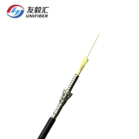 China G657A2 TPU Jacket Military Tactical Optical Fiber Cable on sale