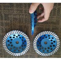 """Best 7"""" Turbo Cup Wheel Diamond Grinding Disc For Concrete and Stone Grinding wholesale"""