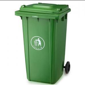 Best 120L/240L Garbage bin with 2 wheel in virgin plastic material garbage bin with wheels wholesale