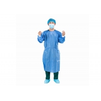 China Elastic Knitted Cuff Doctor Patient Disposable Surgical Gown on sale
