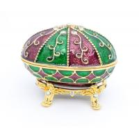 Cheap Faberge Egg Trinket Box Faberge Egg Jewelry Box Metal Gift Box gold metal jewelry box for sale