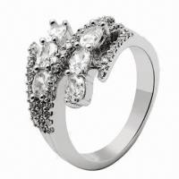 Buy cheap Silver Ring, Customized Designs Welcomed from wholesalers
