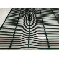 Best Green PVC Coated 358 Anti Crawling Network / 4 . 0 MM Anti Climb Wire Fence wholesale
