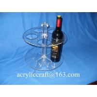 China Perspex Wine Holder / Promotion Acrylic Wine Rack / Lucite Wine Bottle Display Stand on sale