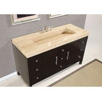 Best Eased Edges Natural Marble SBath Vanity Tops With Cut Out Polished wholesale