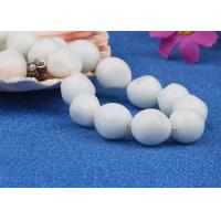 Best Vintage Glass Bead Artificial Pearl Necklace Jewelry Baroque Style White Color wholesale