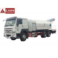 China Fast Spraying Stainless Steel Water Truck , Remote Control Construction Water Truck Water Saving on sale