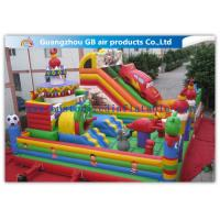 China Childrens Outdoor Inflatable Combo Bouncers , Bouncy Castle Slide Play Equipment on sale