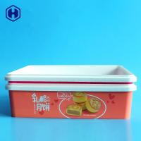 China Square Stackable IML Box Plastic PP Container Soft Moon Cake Packaging on sale