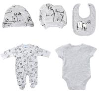 Best Printed spring and Autumn Newborn Baby Clothes Set Easy Wash And Easy Dry wholesale