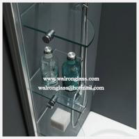 China Bathroom Glass Shelf Tempered Toughened Glass on sale