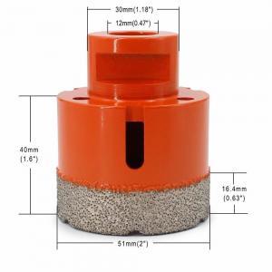Best Vacuum Brazed Diamond Core Drill Bit 2 Inch Diameter For Concrete / Granite wholesale