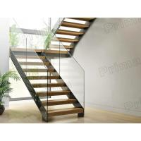 Best glass metal straight staircases / glass stairs / metal stairway / wood stairway wholesale