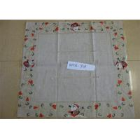 Best Flower Patterns Linen Hemstitch Tablecloth 3mm - 5mm Thickness For Household Kitchen wholesale