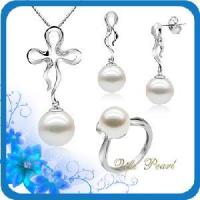 Best 925 Silver Freshwater Pearl Jewelry Set (ST70922) wholesale
