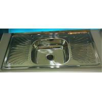 Best factory liquidation North American Hot Sale WY10050C Layon  Kitchen sink with drainboard single bowl wholesale