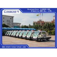 Best Four Seater Electric Hotel Buggy Car / Electric Delivery Van With Cargo 28km/H wholesale