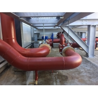 China A795 schedule 10 erw welded carbon steel pipes for fire fighting use with painted and grooved ends/ ASTM A53 steel pipe on sale
