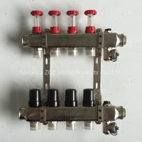 China 4 Port stainless steel water manifold for underfloor heating system on sale