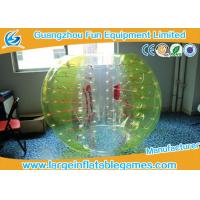 Yellow and white Knocker ball soccer Inflatable Bubble Ball ballon for Clubs