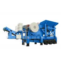 China PP Series Mobile Jaw Crusher With Belt Conveyor / Coal Crushing Plant 10 - 35m3/H Capacity on sale