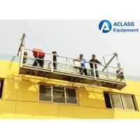China Steel Wire Suspended Working Platform With Steel Hot Galvanized Alloy 8-10 m/min on sale