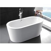Solid Surface Modern Freestanding Bathtub , High Back 55 Inch Freestanding Tub