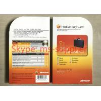 China Genuine Microsoft Office 2010 / 2013 / 2016 Key Card 64 Bit Factory Price Online Activation Life Time on sale