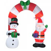 Best Customized Beautiful Nice Holiday Party Decoration Inflatable Christmas Arch for Santa wholesale