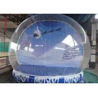 Best Waterproof Christmas Blow Up Snow Globe , Inflatable Lawn Snow Globe High Safety wholesale