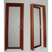 Cheap 1.4mm profile thickness red wood, cherry aluminum hinged doors for residential for sale
