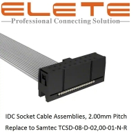 Best IDC Socket Cable Assemblies 2.0mm Pitch, replace to Samtec TCSD-08-D-02,00-01-N-R wholesale