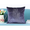 Buy cheap Custom Unique Shiny Diamonds Logo Soft Velvet Cushion High Demand Pillowcase from wholesalers
