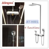 China AT-H001 thermostat controlled shower valves metal body stainless steel colour top shower 380x160mm big platform on sale