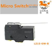 China Lema hinge lever leaf spring cupboard door switches limit micro switch LZ-15GW-B on sale