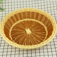 Best wholesale  multifunction fruit decorative basket PP imitation rattan storage baskets wholesale