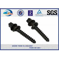 Buy cheap ISO SGS inspected  Q235 35# 45# Railway Sleeper Spikes  Black Oxide Screws product