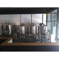 Four  Stainless Steel Tanks 60 BBL Micro Brewing Equipment Heated By Steam