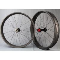 Best 90mm Width 20mm Depth Carbon Fat Wheels Hokeless Axle Thru For MTB 690g wholesale