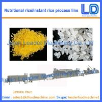 Best Instant Rice/Nutritional Rice Food making machine wholesale