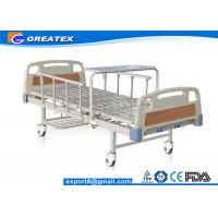 Best Durable frame Steel board Two Crank Manual Bariatric Hospital Beds With Foldable Table wholesale
