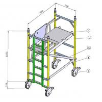 Best Painting Indoor, Outdoor Anti - Skid Aluminium Mobile Scaffold / Scaffold Towers wholesale