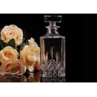 China Hand Made Colored Glass Wine Bottles With Corks , Luxury Wine Bottle on sale