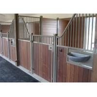 China Full Weld Metal Prefab Horse Stables , Outdoor Pole Barn Horse Stall Door Kits on sale