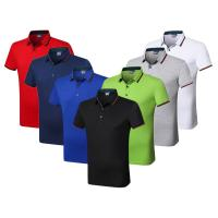 China Silk Cotton Custom Embroidered Polo Shirts Athletic Stretch Moisture Wicking on sale