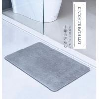 Best High quality super absorbant diatomaceous earth mat eco-friendly non slip diatomite bath mat wholesale